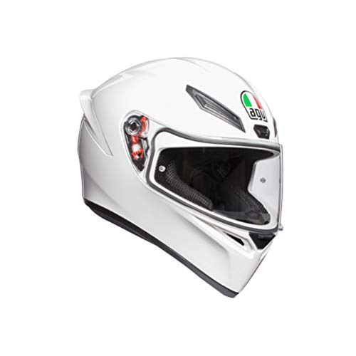AGV K1 Solid Full Face Motorcycle Helmet, White, Small from AGV