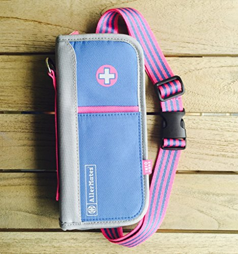 Allermates Pink / Blue Supreme Epipen and Medicine Carrying Case from aller-mates