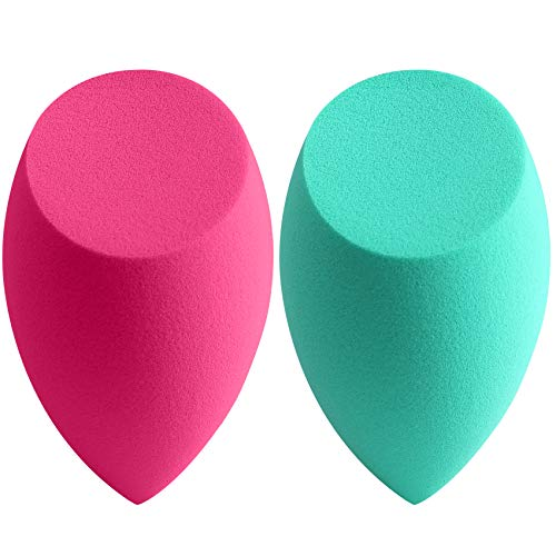 amoore Makeup Sponge Puff Makeup Blending Sponge Makeup Blender Foundation Sponge Concealer Sponge Applicator Sponges (2 Pack, Latex-free Sponge) from amoore