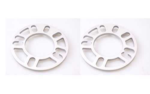 "Autobahn88 0.3"" (8mm) Universal Vehicle Wheel Spacer, for PCD 4x98 4x100 4x110 4x108 4x112 4x114.3 5x100 5x110 5x108 5x112 5x114 - Pack of 2 from autobahn88"