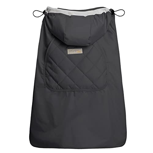 Bebamour Universal Hoodie All Seasons Carrier Cover for Baby Carrier Cover for Winter Warm (Dark Grey) from bebear