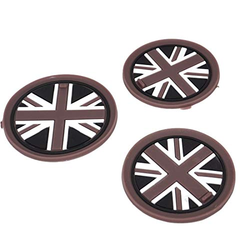 beler 3pcs Car Cupholder Mats Grey Union Jack Anti-Slip Cup Pads (Union Jack, Fulfilled by hermeshine) from beler