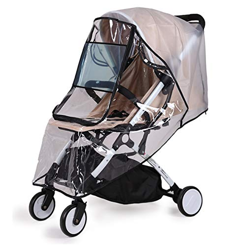 Bemece Universal Rain Cover for Pushchair Stroller Buggy Pram, Baby Travel Weather Shield - L from Bemece