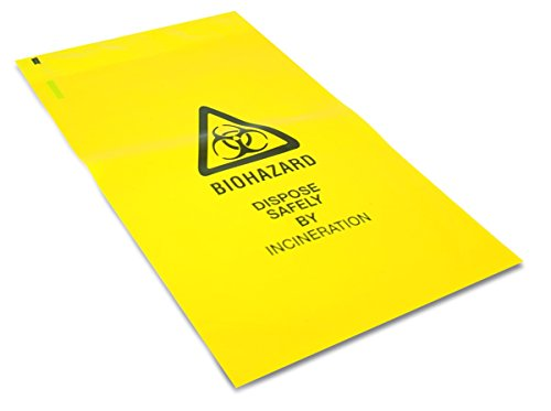 25 x Strong Clinical Waste Biohazard / Bio Hazard Yellow Bags 203mm x 354mm from bluedot