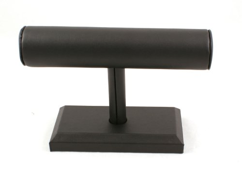 Bracelet Bangle Watch T-Bar Stand Leatherette - Black from boxdisplays