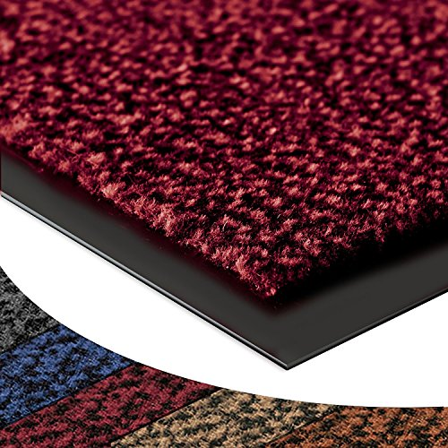 casa pura® Dirt Trapper Entrance Mat Sky | Non-Slip | Many Sizes Available | Red - Mottled - 90x150cm from casa pura