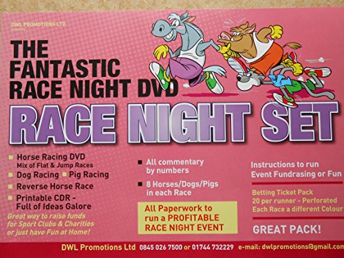 THE FANTASTIC RACE NIGHT DVD SET FOR FUNDRAISING OR FUN EVENTS-GREAT PACK from CD FUNDRAISING