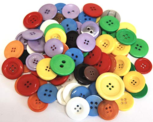 celloexpress Pack of 100g - LARGE MIX - Mixed Large Sizes and Colours of Various Large Buttons for Sewing and Crafting from celloexpress