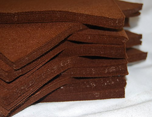 "celloexpress Pack of 2 Sheets - DARK BROWN - 100% Acrylic Craft Felt 9"" Squares for Crafting, and Soft Toy Making from celloexpress"