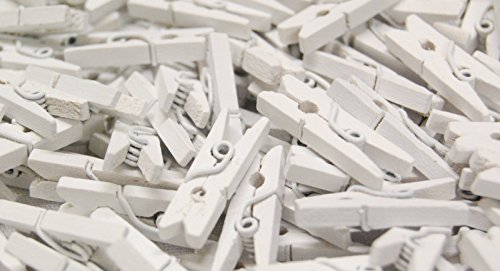 celloexpress Pack of 25-25mm Mini Wooden Craft Pegs - White from celloexpress