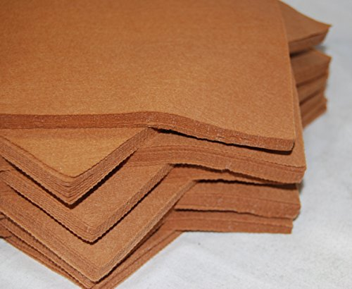 "celloexpress Pack of 5 Sheets - TEDDY BEAR BROWN - 100% Acrylic Craft Felt 9"" Squares for Crafting, and Soft Toy Making from celloexpress"