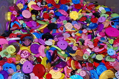 celloexpress Pack of 50g - SHAPED BUTTONS - Various Sizes and Colours of Various SHAPED Buttons for Sewing and Crafting from celloexpress