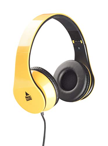 cellularline MUSICSOUNDCOLORY Headphone with Extensible Headband - Yellow from cellularline