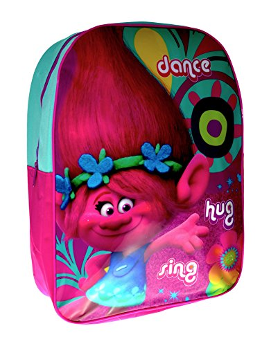 Kids Backpack Children's Rucksack Junior School Bag Coulourful Design (Trolls 'Poppy') from character