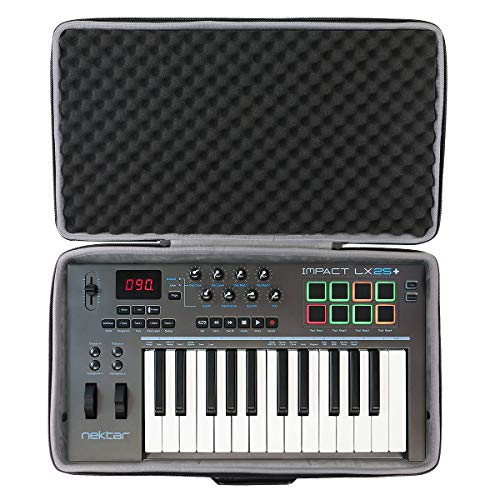 co2CREA Hard Travel Case for Nektar Impact LX25+ MIDI Keyboard Controller (Travel case) from co2CREA