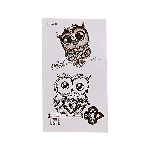 Waterproof Cartoon Owl Cute Temporary Decal Fake Tattoo Sticker Body Art Decor - RC458 collectsound from collectsound