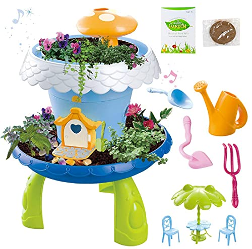 deAO Fairy Tale Garden Magical Cottage Playset DIY Miniature Gardening for Kids from deAO