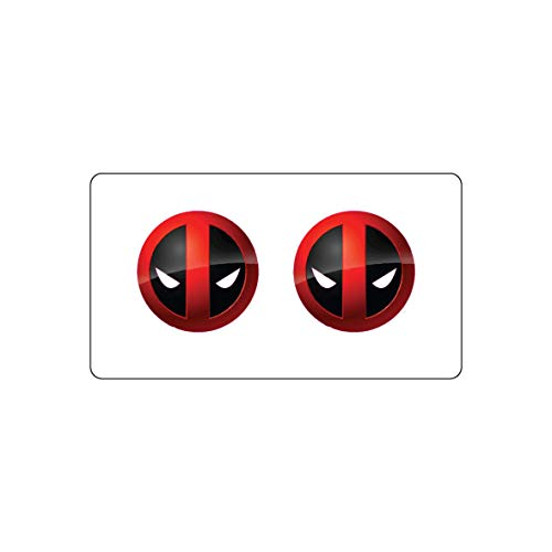 Deadpool Great design macbook sticker - decals for macbook - clear vinyl / best stickers (4.5x4.5) from decorsfuk.co