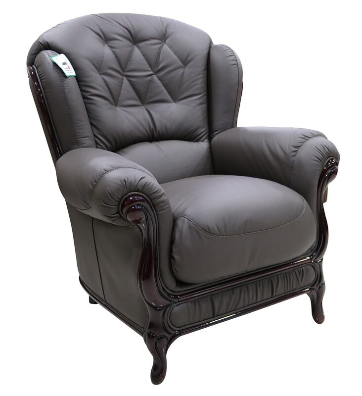 Arizona Armchair Genuine Italian Leather Best Quality from designersofas4u