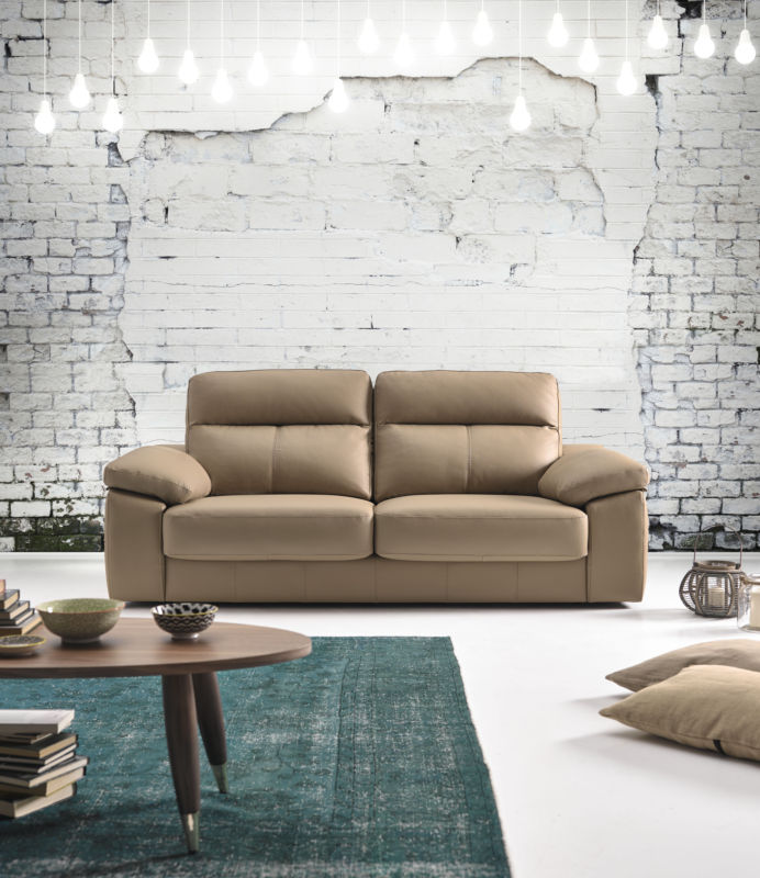 Belinda 3 Seater Italian Leather Sofa Settee from designersofas4u