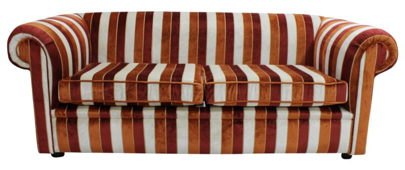 Buy Velvet Stripe Chesterfield settee|Chesterfield Sofa… from designersofas4u
