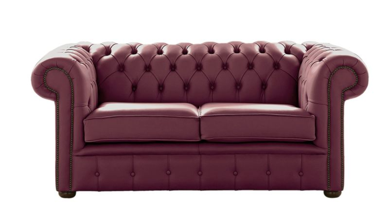 Chesterfield 2 Seater Shelly Philly Leather Sofa Settee from designersofas4u