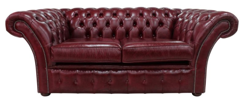 Chesterfield Balmoral 2 Seater Sofa Settee Old English Burgandy… from designersofas4u