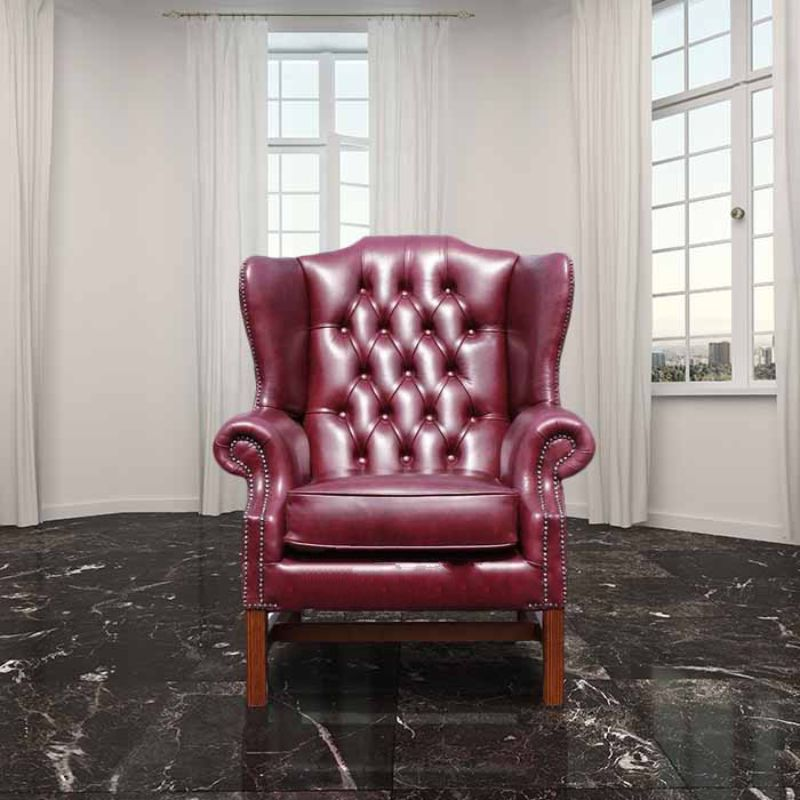 Chesterfield Georgian High Back Wing Chair UK Manufactured… from designersofas4u