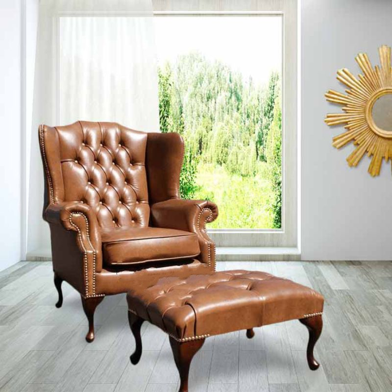 Chesterfield Mallory High Back Wing Chair UK Manufactured… from designersofas4u