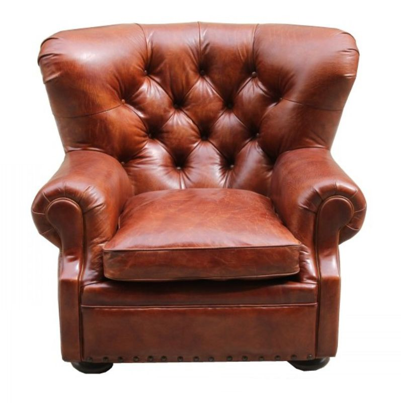 Dorchester Chesterfield Buttoned Vintage Leather Armchair from designersofas4u