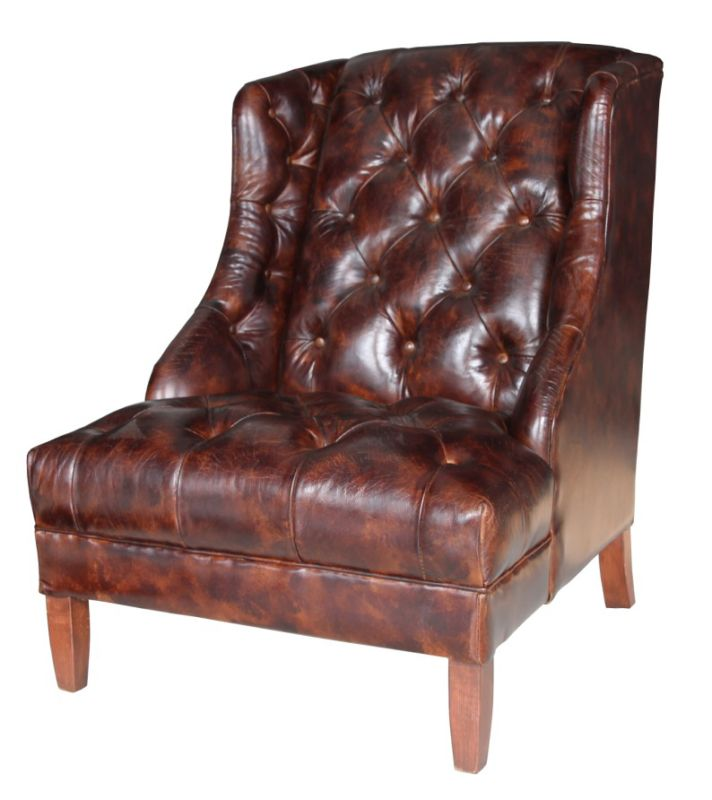Hambleton Chesterfield Buttoned Vintage Leather Armchair from designersofas4u
