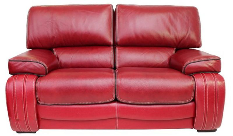 Kentucky 2 Seater Genuine Italian Red Leather Sofa Settee Offer from designersofas4u