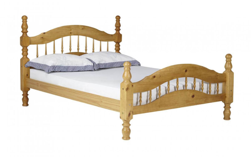 Padova 4'6'' Double Bedstead in Pine Finish from designersofas4u