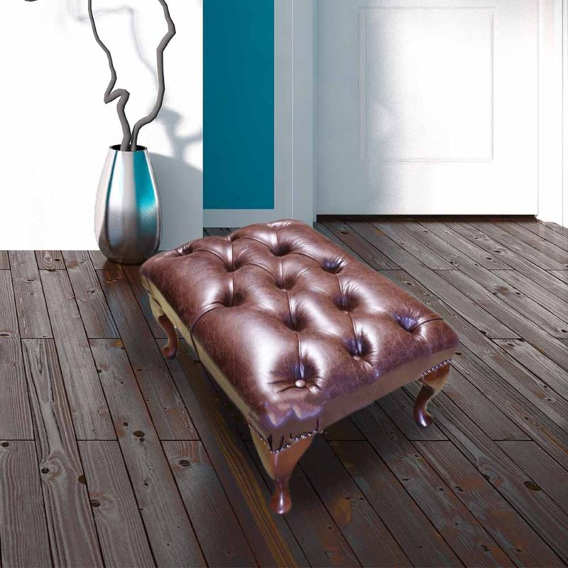 Premium Old English Brown Leather Chesterfield Queen… from designersofas4u