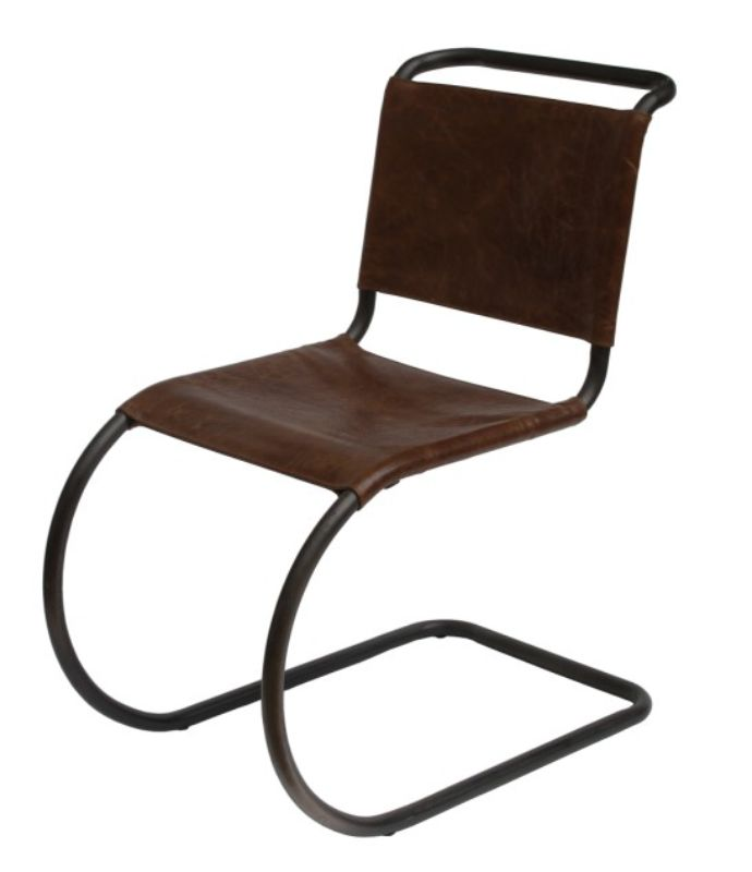Ronson Vintage Leather Dining Chair from designersofas4u