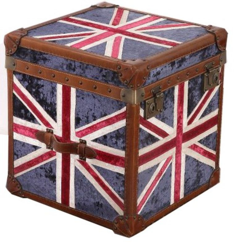 Union Jack Velvet Trunk from designersofas4u