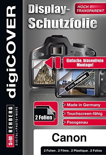 digiCOVER Basic Screen Protector for Canon EOS 80D Camera from digiCOVER
