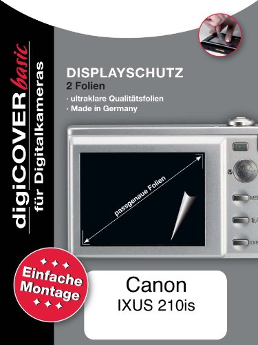 digiCOVER LCD Screen Protection Film for Canon Digital IXUS 210 IS from digiCOVER