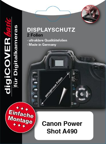 digiCOVER LCD Screen Protection Film for Canon PowerShot A490 from digiCOVER
