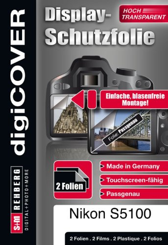 digiCOVER LCD Screen Protection Film for Nikon Coolpix S5100 from digiCOVER