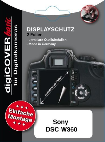digiCOVER LCD Screen Protection Film for Sony DSC-W360 from digiCOVER