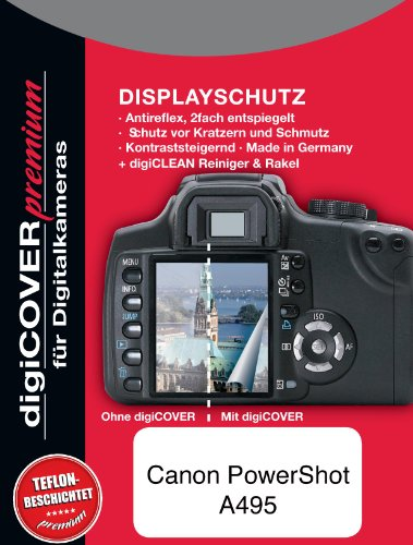 digiCOVER Premium LCD Screen Protection Film for Canon PowerShot A495 from digiCOVER