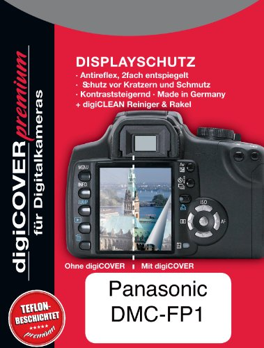 digiCOVER Premium LCD Screen Protection Film for Panasonic DMC-FP1 from digiCOVER