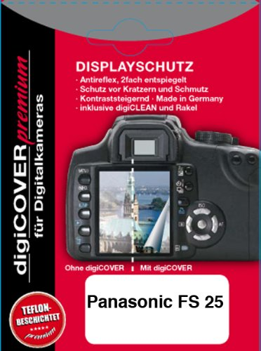 digiCOVER Premium LCD Screen Protection Film for Panasonic FS 25 from digiCOVER