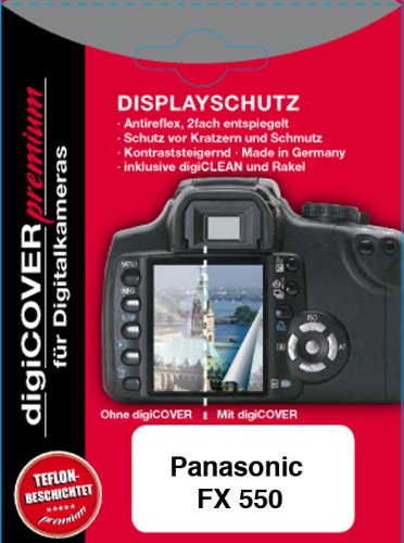 digiCOVER Premium LCD Screen Protection Film for Panasonic FX 550 from digiCOVER