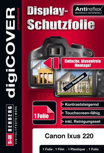 digiCOVER Premium Screen Protection Film for Canon Digital IXUS 220 HS from digiCOVER