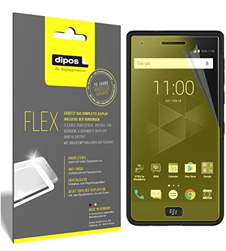 dipos I 3x Screen Protector compatible with Blackberry Motion - Covers Screen 100% - Protective Film from dipos