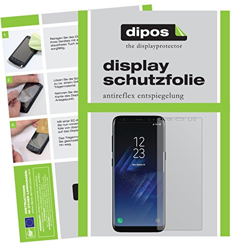 dipos I 2x Screen Protector matte compatible with Samsung Galaxy S8 Plus Protection Films from dipos