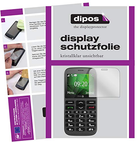 dipos I 2x Screen Protector compatible with Doro 1370 Protection Films clear from dipos