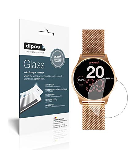 dipos I 2x Screen Protector compatible with Joli XW Pro Smartwatch Flexible Glass 9H Display Protection from dipos